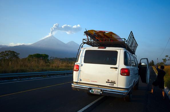 volcan, Viajar con Paco.